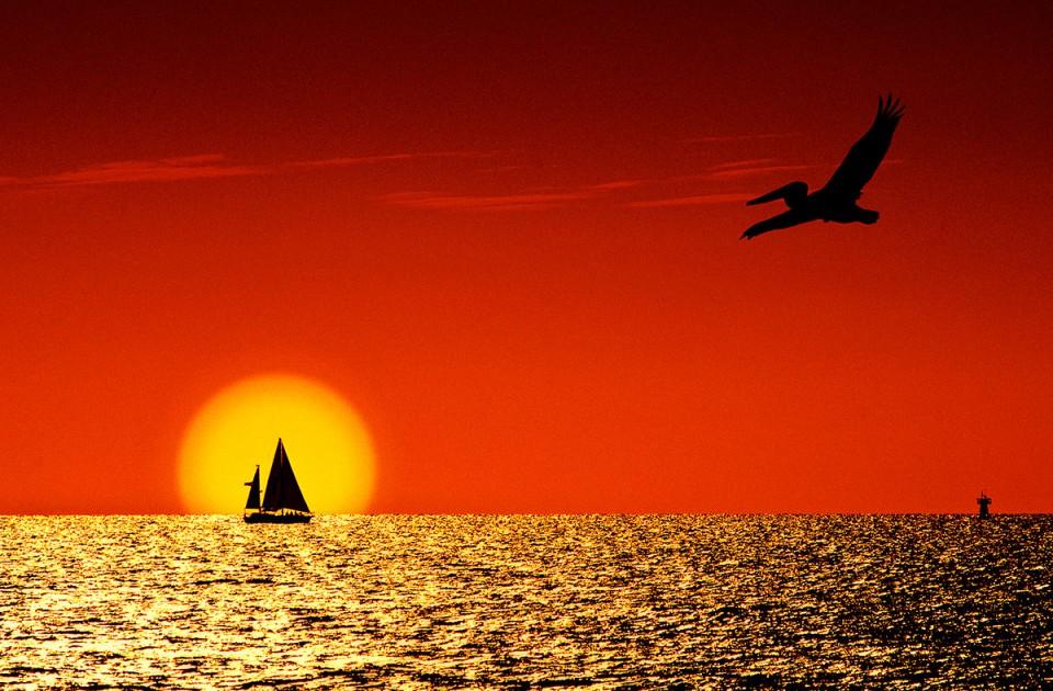 Sunset on Pasagrille Beach