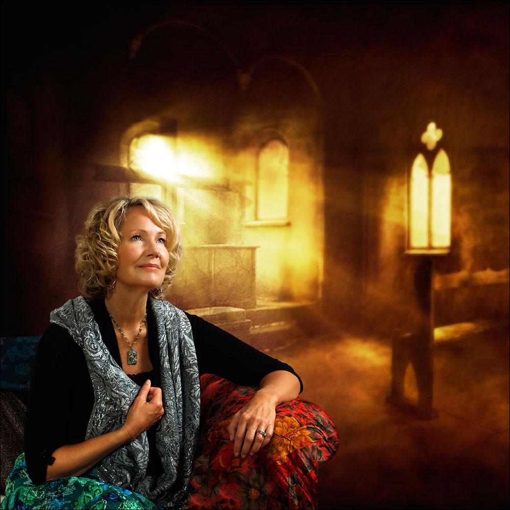Annie Karto's portrait for her album, Divine Mercy Flood My Soul.
