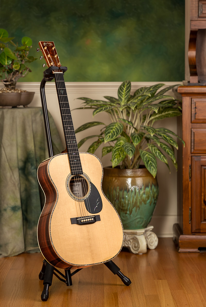"""Martin & Co. OM body size guitar custom made for Ed Foster, Jr., the grand prize recipient of the 2019 """"Membership Brings Its Rewards Sweepstakes."""""""